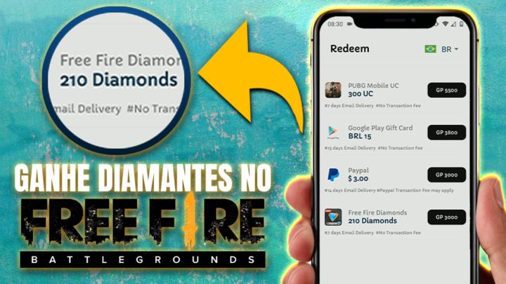Como Ganhar Diamantes de Graça no Free Fire Hoje – Atualizado