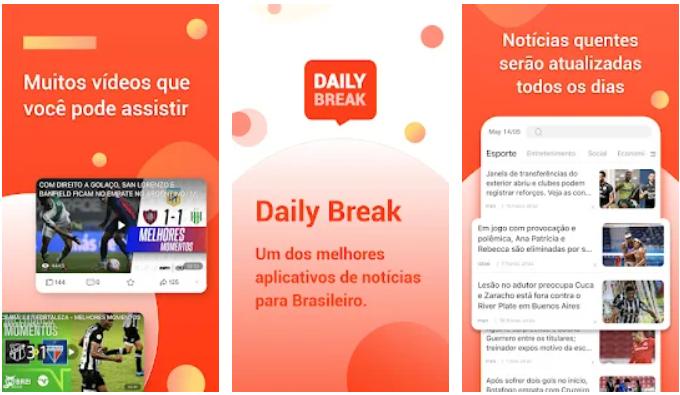 Dailybreak NOVO APP! GANHE UMA RENDA EXTRA LENDO NOTICIAS E VENDO VIDEOS
